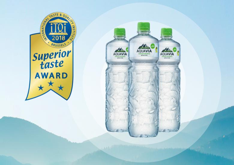 AquaVia-t Superior Taste Award Díjjal jutalmazták